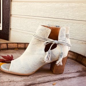 Awesome denim booties!